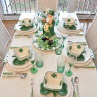 St. Patrick's Day Tablescape Table Setting