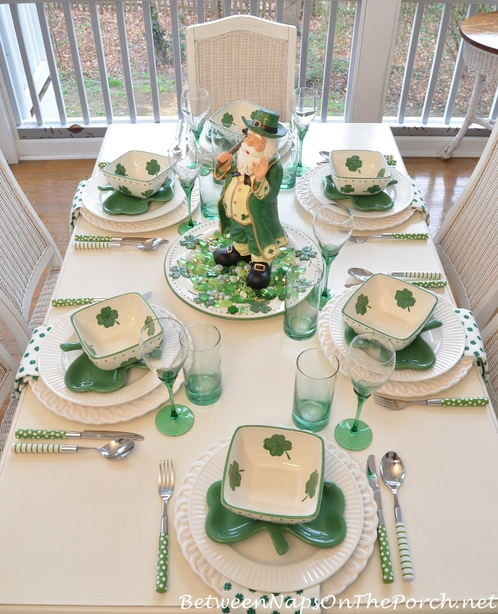 st patrick 39 s day table setting and decorations