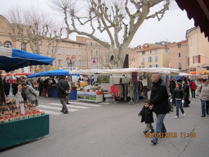 Village Market in Apt, France