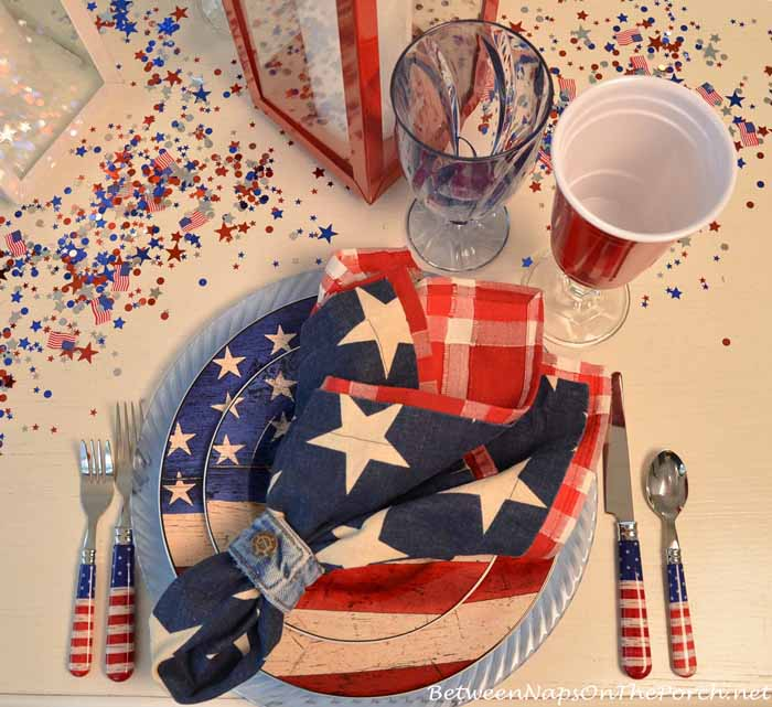 4th of July Patriotic Plates, Napkins & Flatware