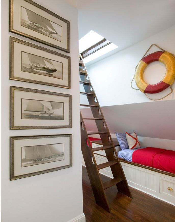 Beach Home Decor and Stairway to Widows Walk