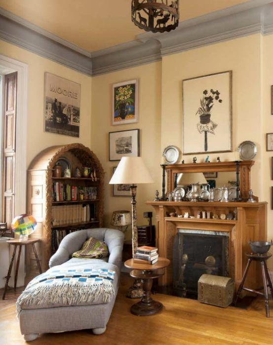 Bedroom in Lauren Bacall's New York Manhattan Home