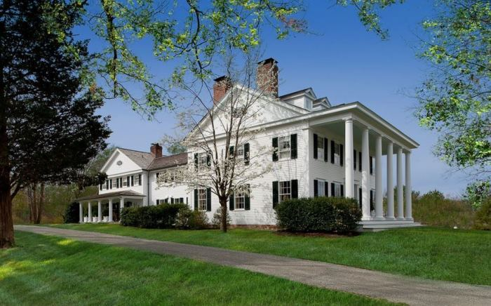 Blaine Trump's Greek Revival Millbrook Estate Linley House