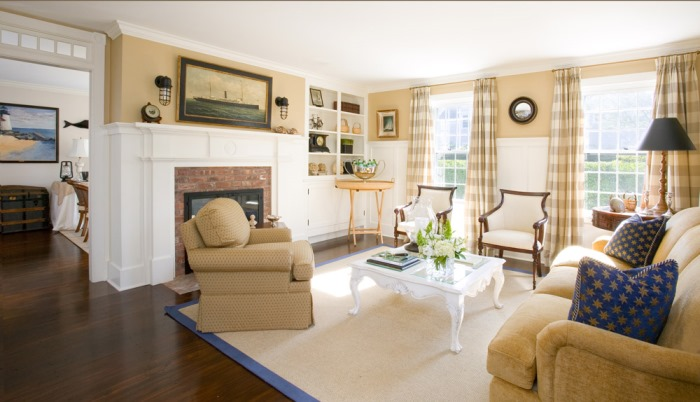 Buffalo Plaid Draperies for the Living Room
