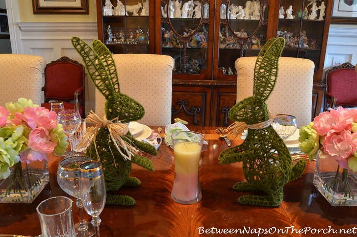 Bunny Centerpiece for Easter