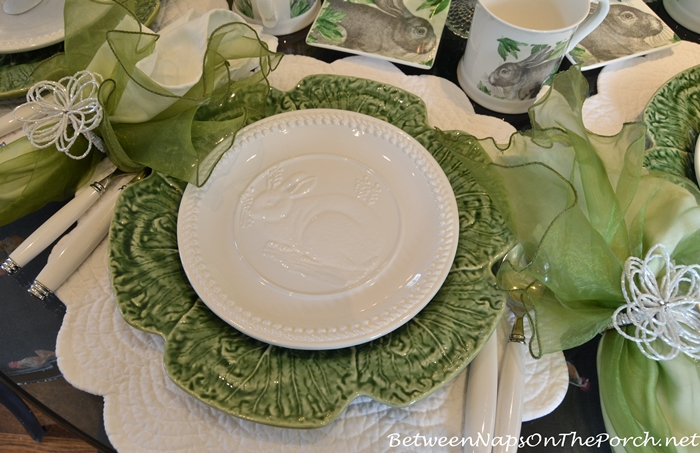Bunny Plates For Easter or Spring