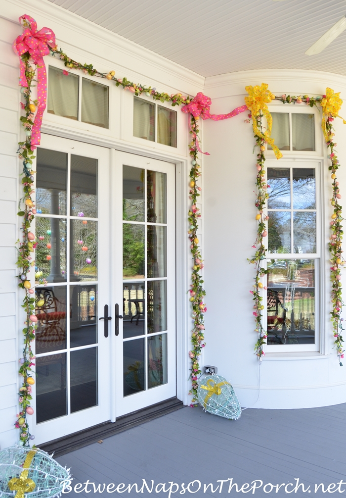 Decorate Around Doors and Windows With Spring Garland