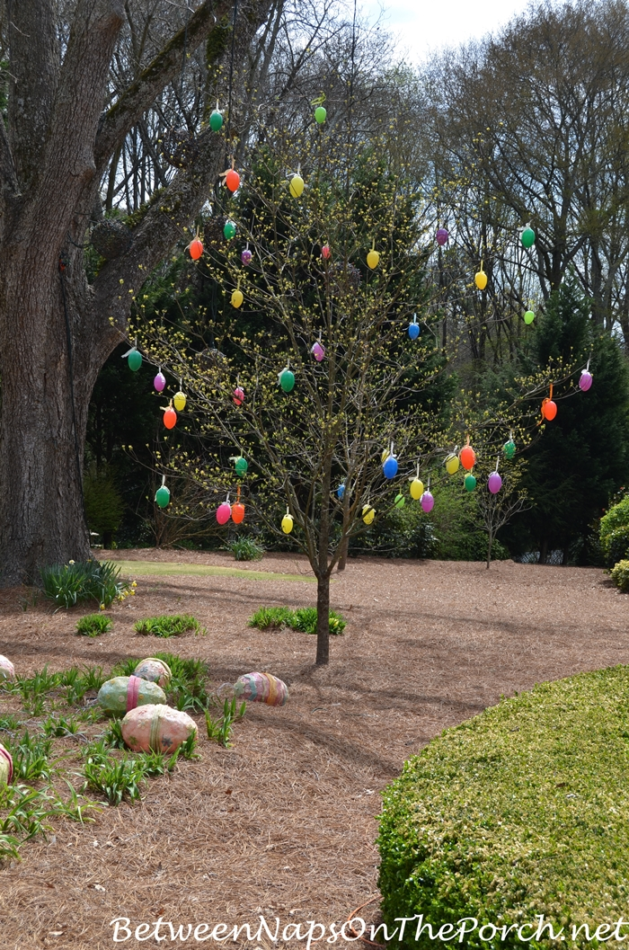 Decorate Tree With Easter Eggs For Spring