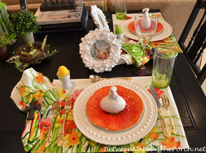 Easter Spring Luncheon Table Setting 2