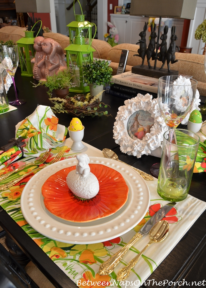Easter Spring Luncheon Table Setting 3