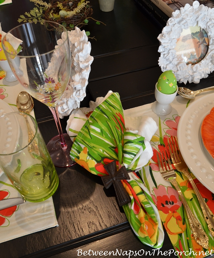 Easter Spring Luncheon Table Setting 4