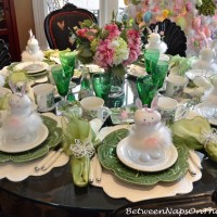 Spring Easter Table Setting & An Easter Spring Tree