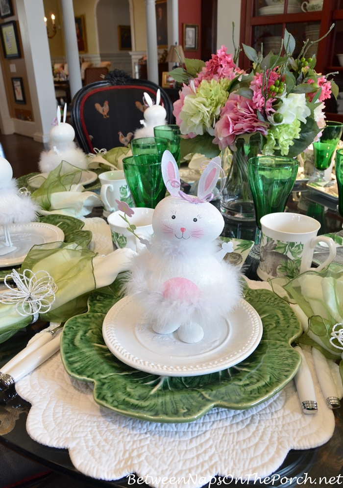 Easter Table with Cabbage Plates