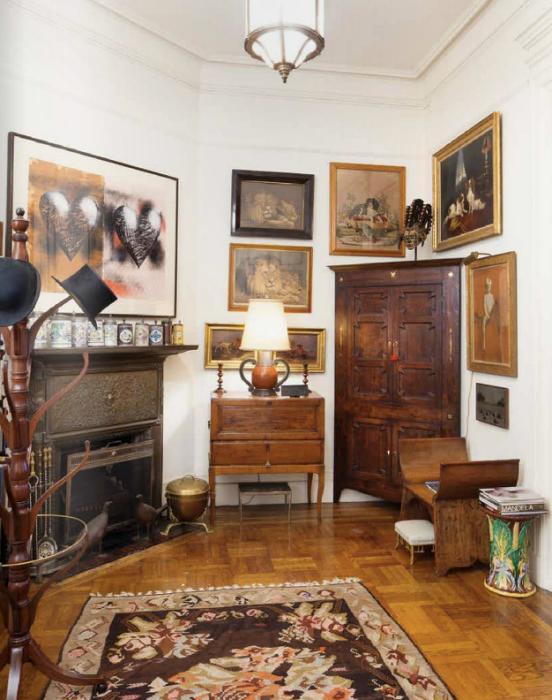 Foyer in Lauren Bacall's Manhattan Home