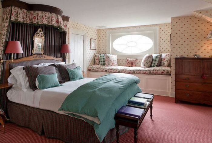 Guest Room in Blaine Trump's Historic Millbrook NY home
