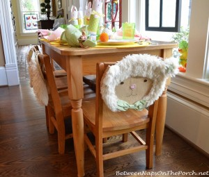 Lamb Chair Back Decorations for Easter