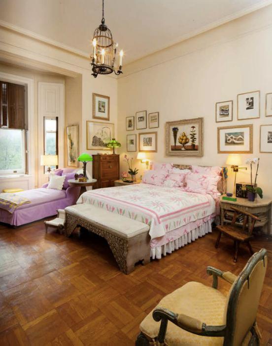 Lauren Bacall's Master Bedroom