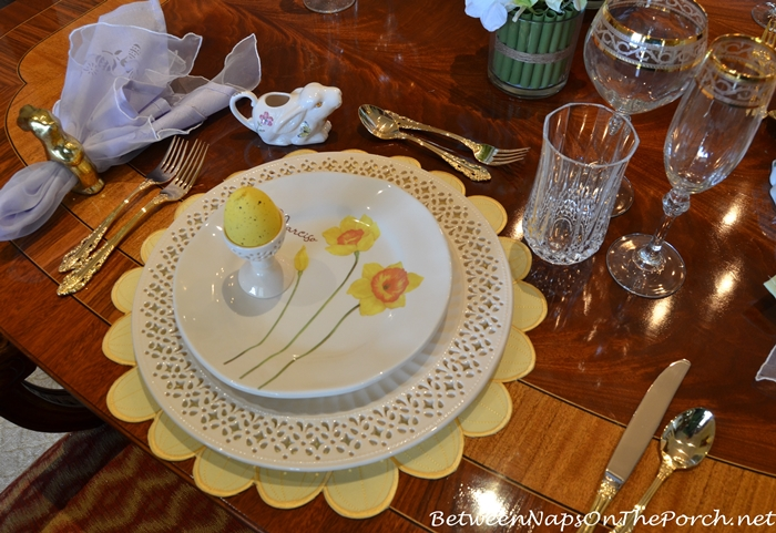 Pierced Plates or  Chargers and Spring Floral Plates