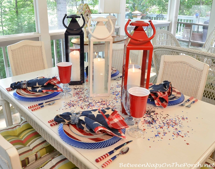 Red, White & Blue Table Setting