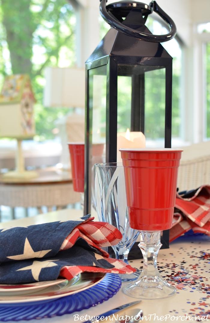 Rednek Solo Party Cup Wine Glasses