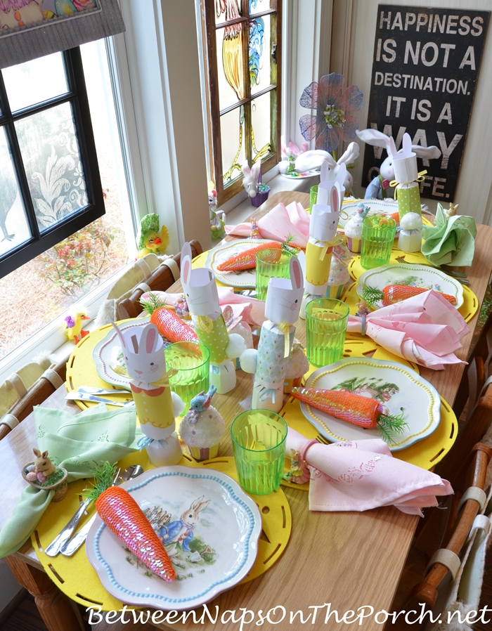 Spring Easter Table Setting for Children