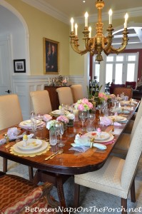 Spring or Easter Themed Table Setting