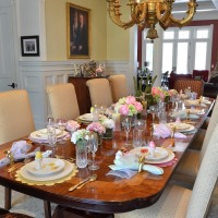 Celebrate Spring With a Floral & Bunny Table Setting