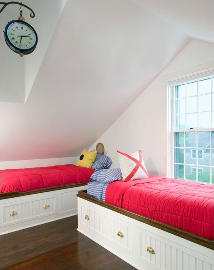Twin Beds with Storage for the Beach House