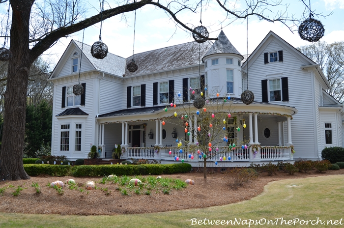 Victorian Home Decorated for Spring and Easter