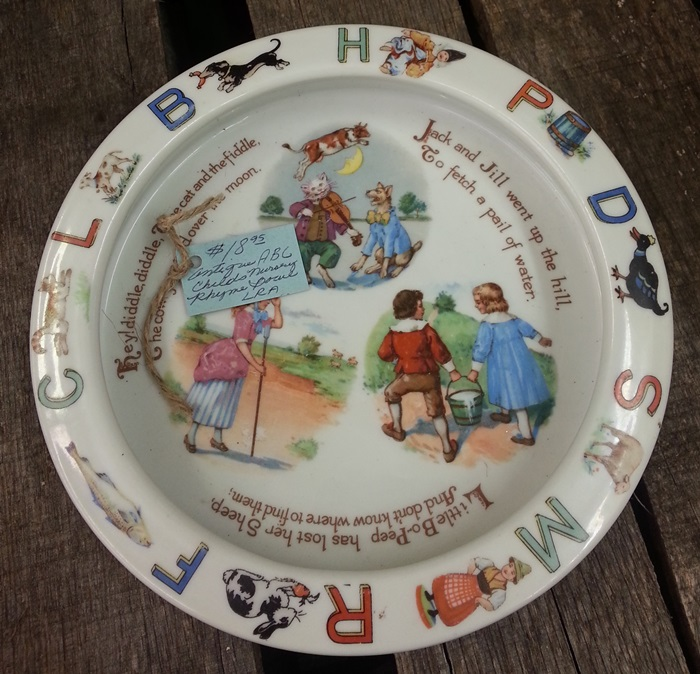 Antique Nursery Rhyme Bowl from Germany