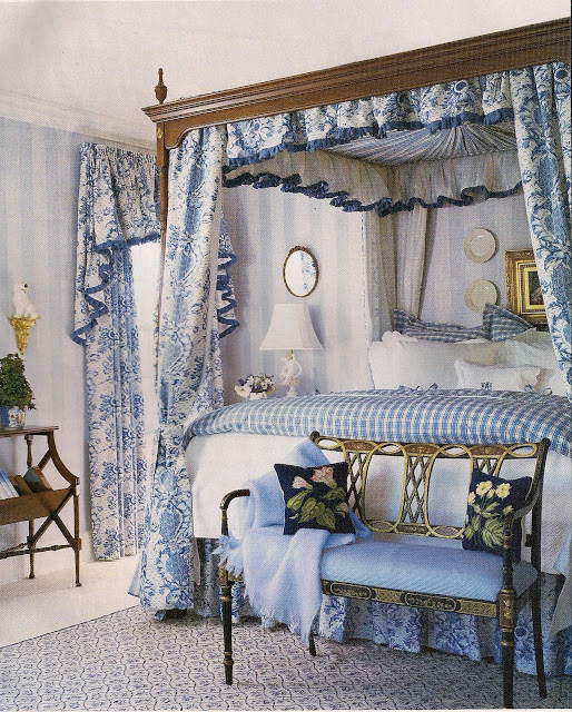 Beautiful Blue Bedrooms: Classic Design Doesn't Equal Stuffy Or Staid