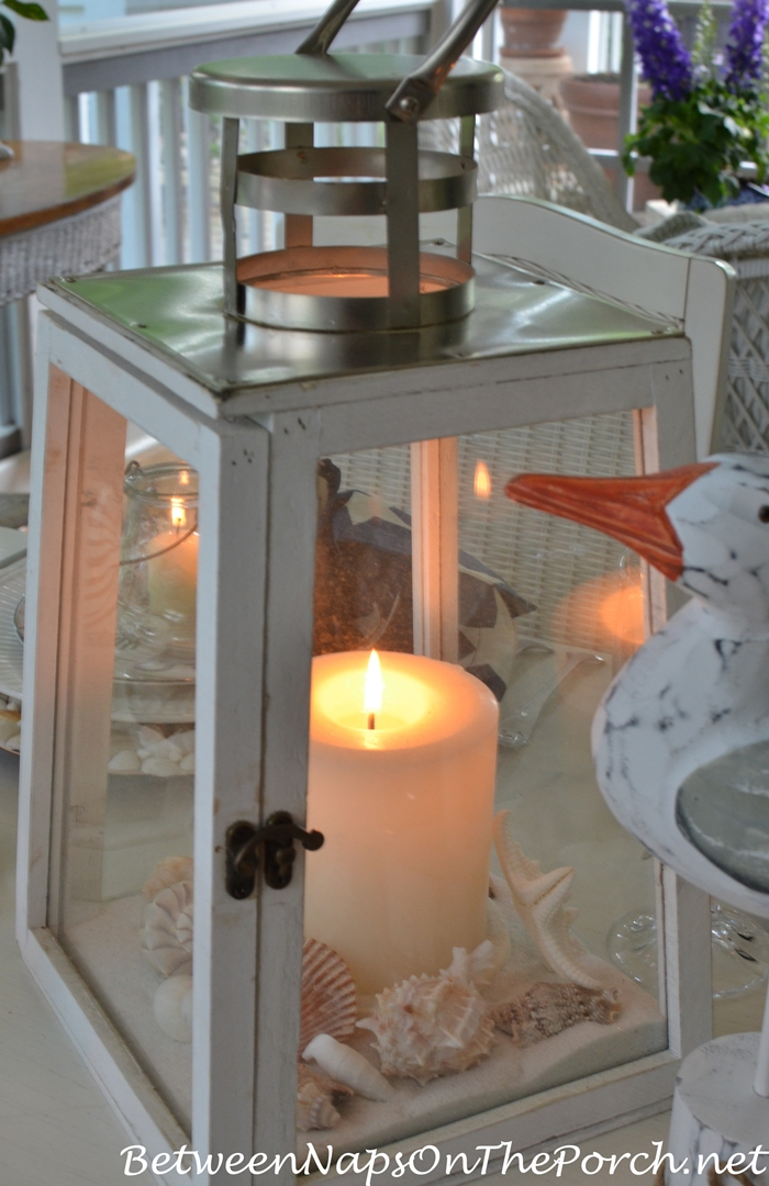 Candle Lantern for Nautical Tablescape
