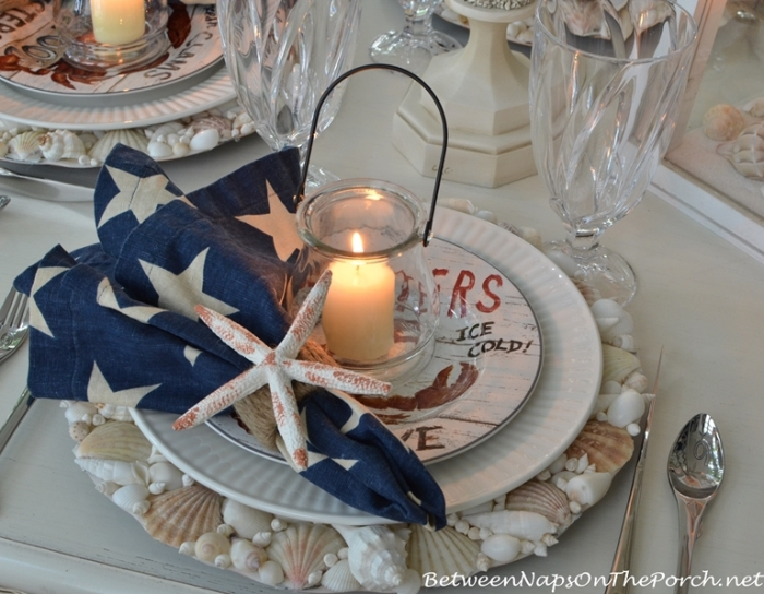 Candlelit Nautical Table Setting