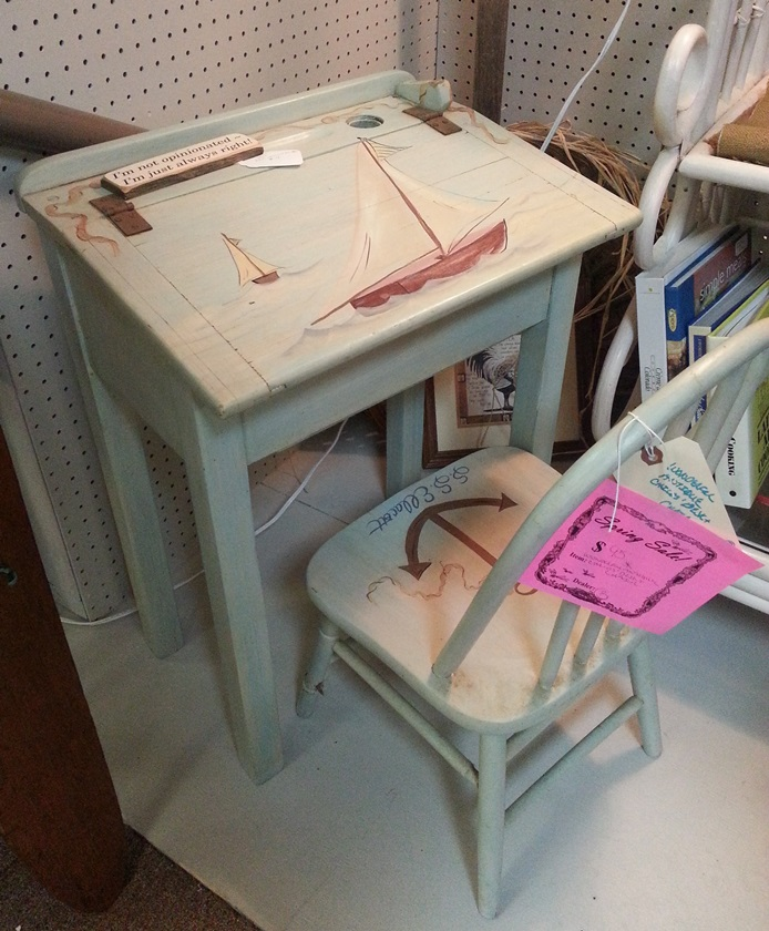 Child's Nautical Desk and Chair