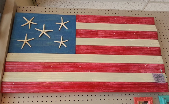 DIY Wood Flag Made From Molding