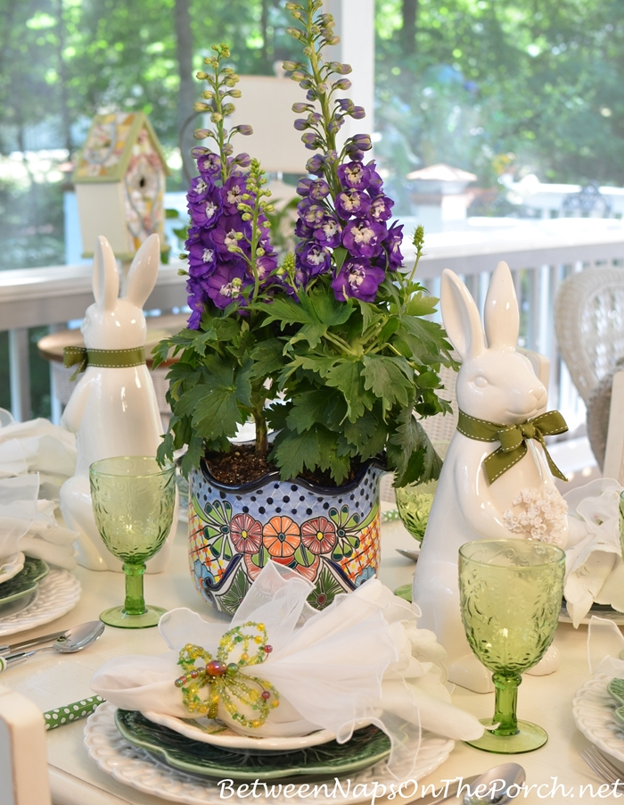 Delphinium for a Spring Table Setting