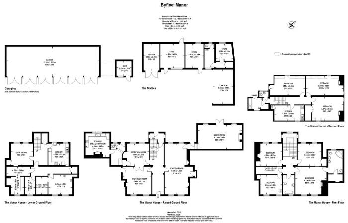 Floor plan for Lady Violet's Byfleet Manor on Downton Abbey