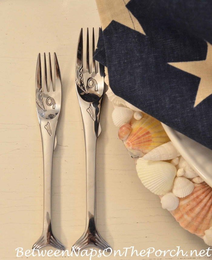Galleyware Fishstix Nautical Shark Flatware