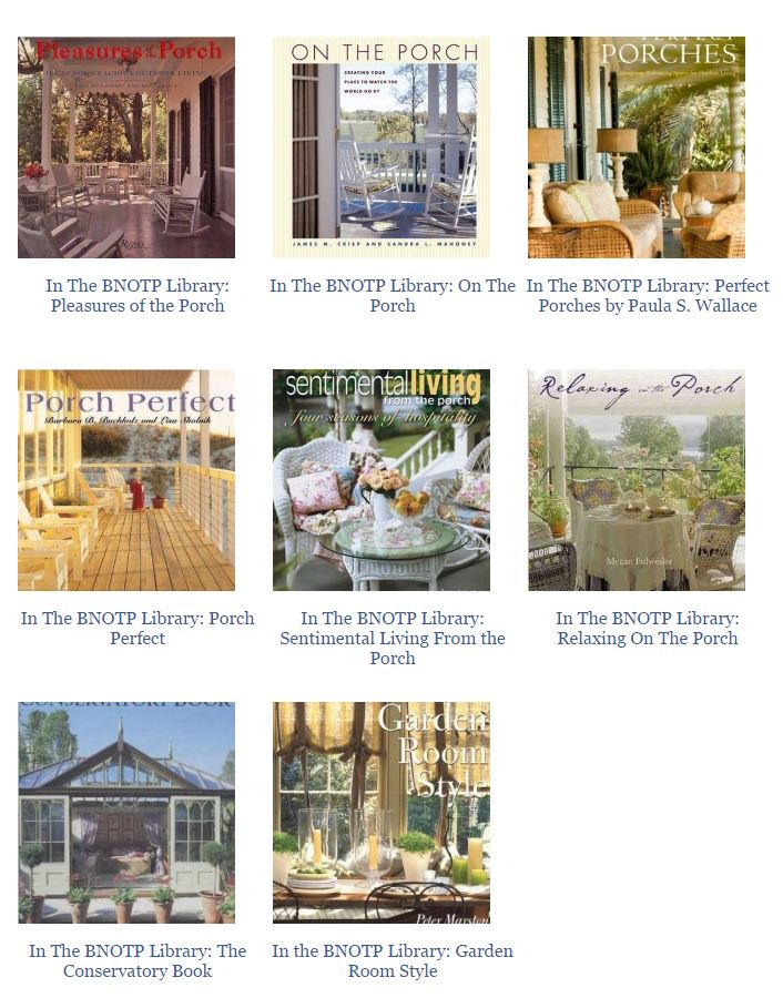 Great Books about Porches and Outdoor Living