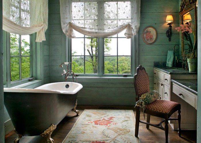 Lake Cottage Bathroom With Gorgeous View