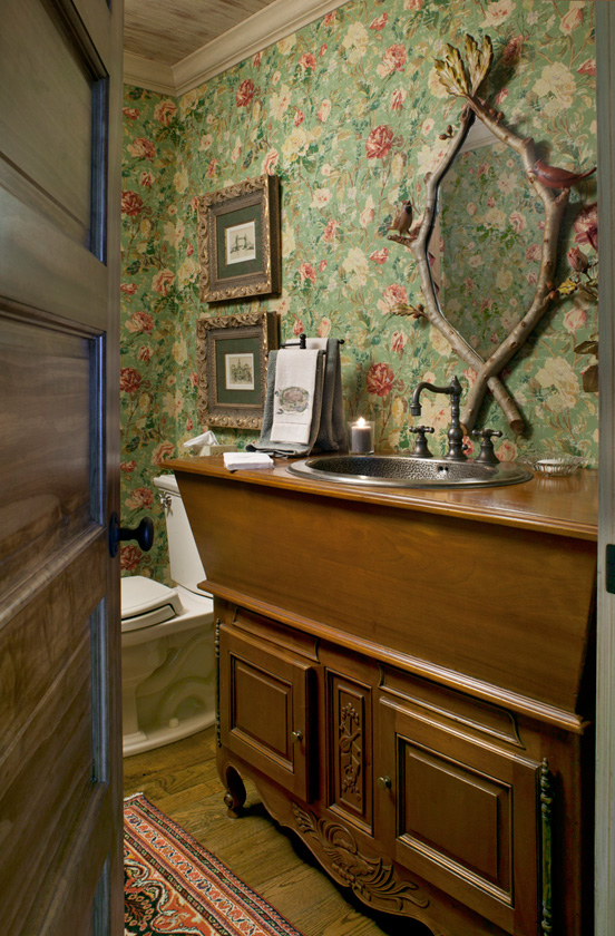 Lake Cottage Bathroom with Twig Mirror