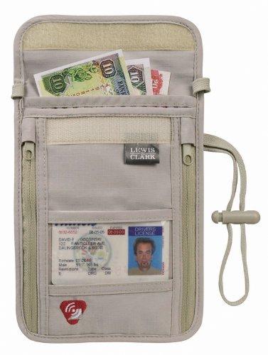 Lewis N. Clark RFID Neck Wallet & Passport Pouch