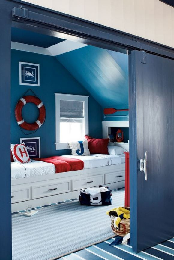 Nautical Boy's Bedroom Design
