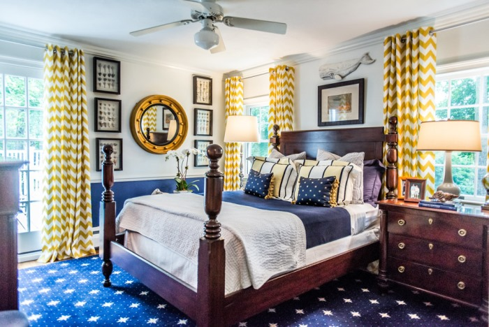 Navy and Yellow Bedroom. Classic Design Doesn t Equal Stuffy or Staid
