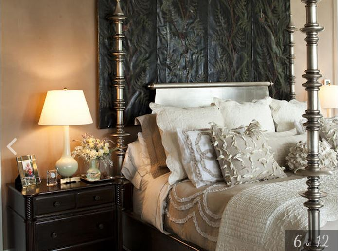 Paula Deen's Bedroom with Silver Spool Bed