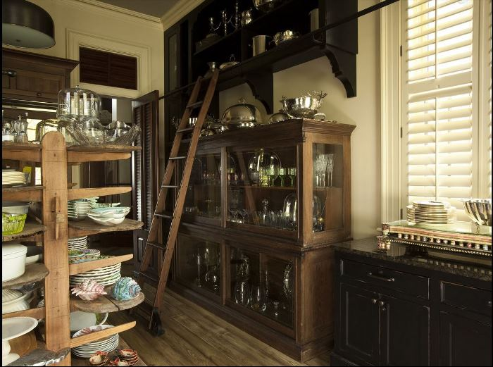 Paula Deen's Butler's Pantry & Dish Storage