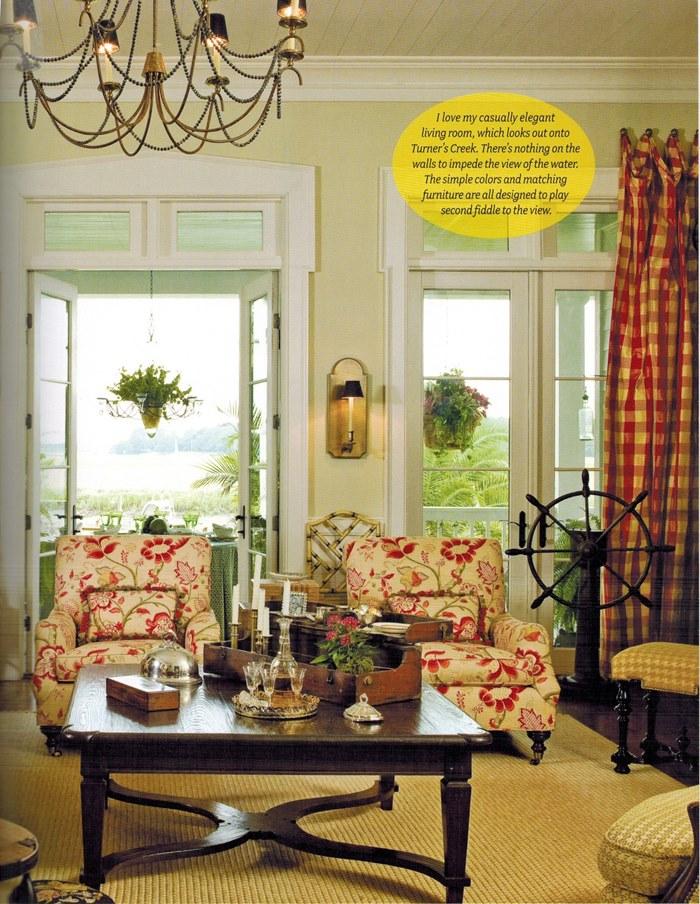 Paula Deen's Living Room