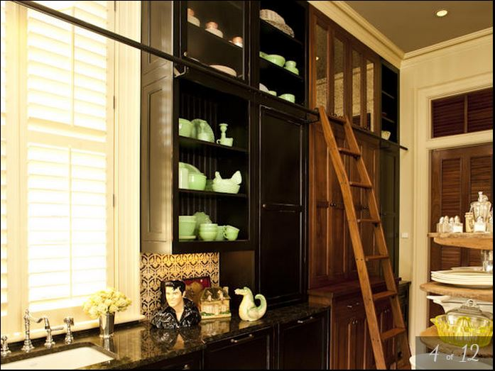 Paula Deen's Pantry and Dish Storage