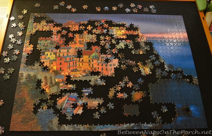 Puzzle of Manarola in Cinque Terre, Italy