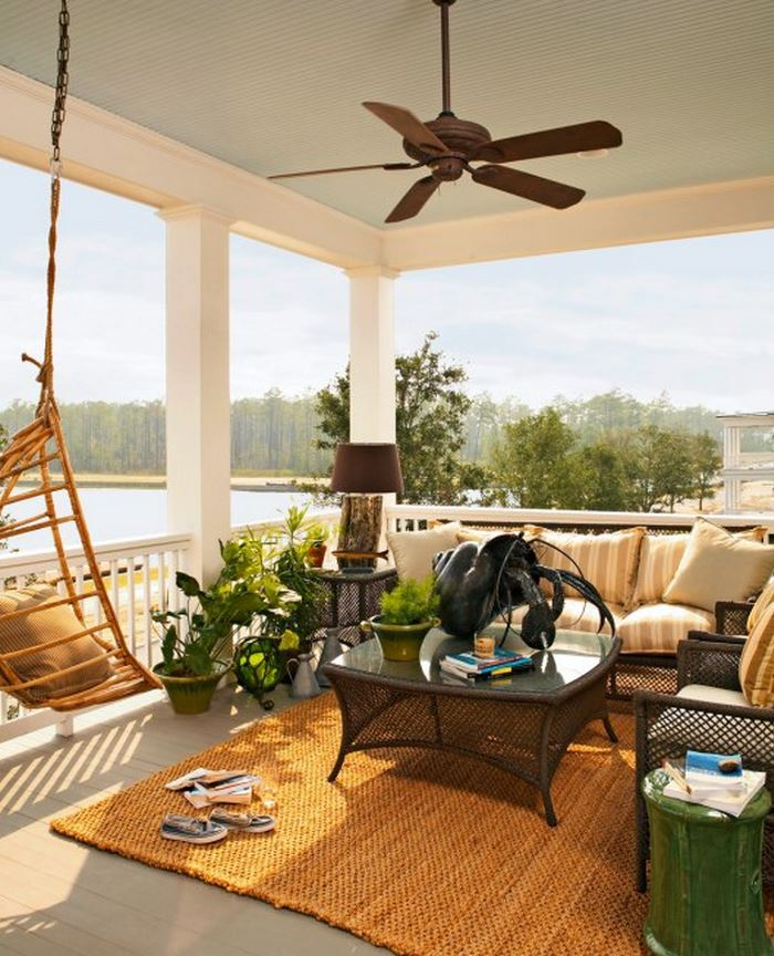 Screened Porch With Fireplace, Captain's Watch Home by Historical Concepts